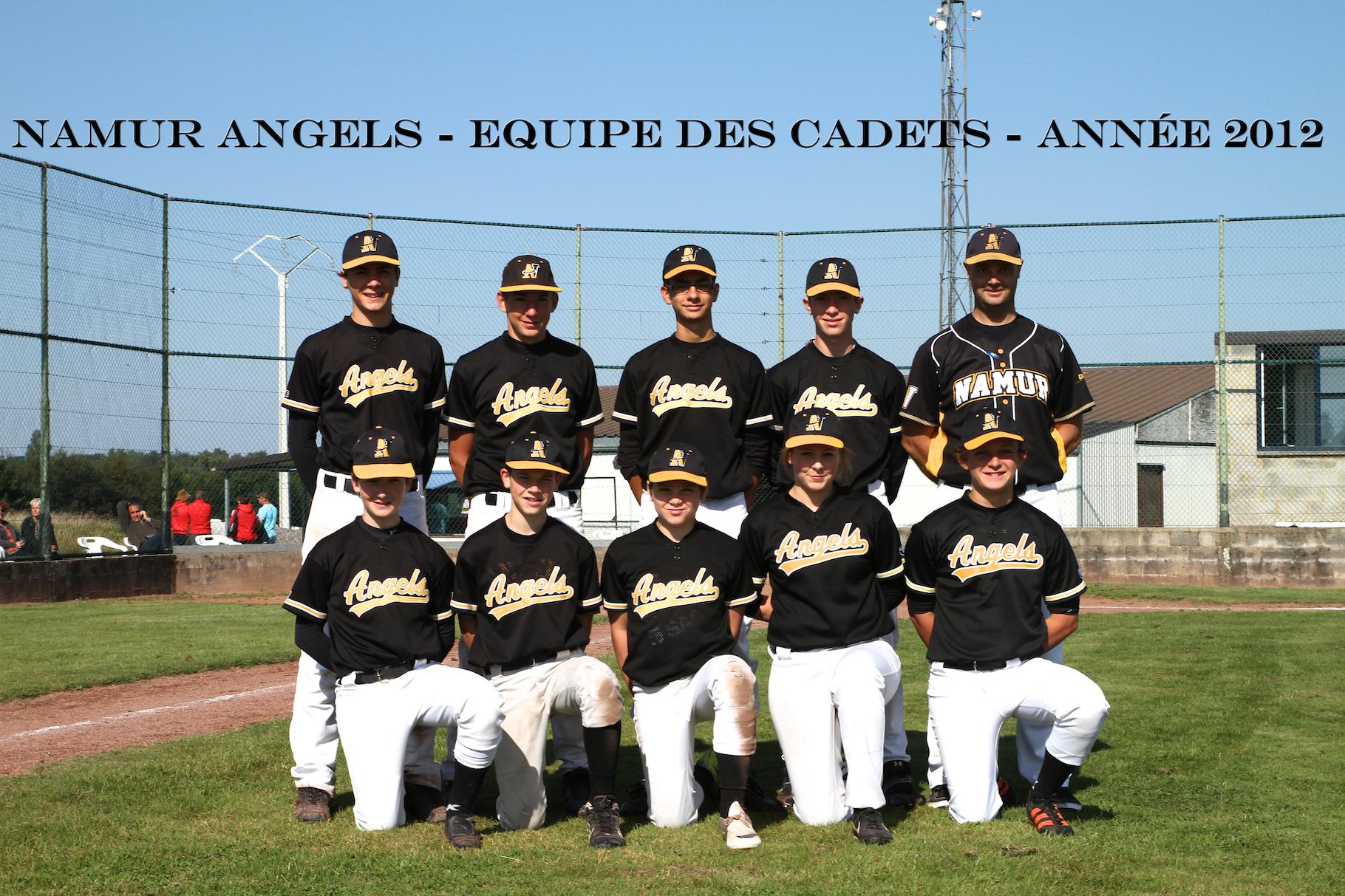 L'équipe de Cadets des Namur Angels