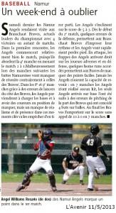 L'Avenir 11/5/2013