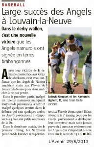L'Avenir 29/5/2013