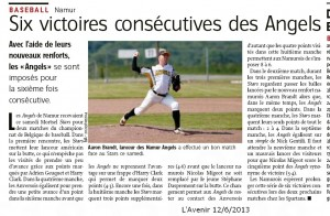 L'Avenir 12/6/2013