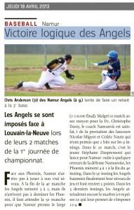 L'Avenir du 18-04-2013