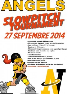 Tournoi Slowpitch 2014
